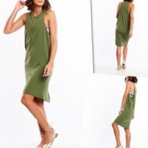 Lucy Olive Green Coverup Dress for Workouts